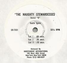 "DROPS ""The Naughty Stewardesses"" 7"" 33 1/3  Three cuts :60 :30 :10 Rated R HEAR"