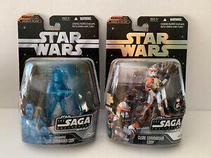 Star Wars Clone Commander Cody lot 2 figures Saga 024 056 Hasbro NEW MOC