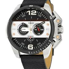 DIESEL DZ4361 Ironside  Black Dial Black Leather Strap Men's Chronograph Watch