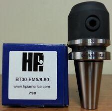 "HPI Pioneer BT30 5/8 0.6250"" End Mill Holder 2.36"" Coolant Thru **NEW**"