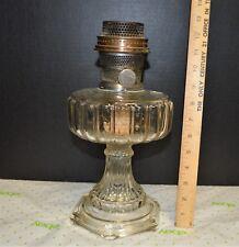 1934 ALADDIN CLEAR CRYSTAL CATHEDRAL Lamp #107 Nu-Type B Burner & Flame Spreader