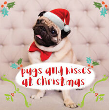 3D Holographic Pugs & Kisses Christmas Greeting Card Lenticular Xmas Cards