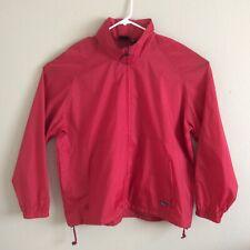 Woolrich Size 2XL Red Nylon Hooded Windbreaker Rain Jacket