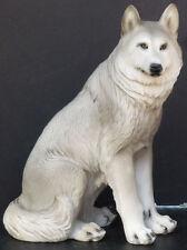 "LYKIAOS  Small Sitting Wolf  Statue Figurine  H7.25"""