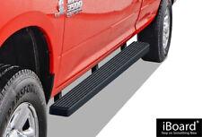 "iBoard Running Boards 4"" Matte Black Fit 09-18 Dodge Ram 1500/2500/3500 Crew Cab"