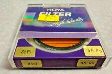 Genuine 55mm Hoya 85B Color Conversion Glass Lens filter Japan Made Warm 85 B