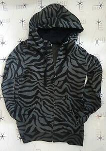 Felpa Everlast donna cerniera cappuccio zebra antracite - nero 19w820