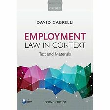 Employment Law in Context, Good Condition Book, Cabrelli, David, ISBN 9780198748