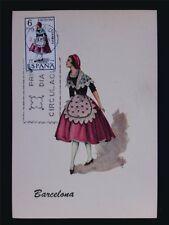 SPAIN MK 1967 COSTUMES BARCELONA TRACHTEN MAXIMUMKARTE MAXIMUM CARD MC CM c6054
