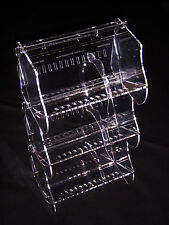 Lot of THREE ORIGINAL No Dowel Clear Acrylic Ribbon Holders Storage System