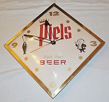 Vintage Piels Light Lager Beer Electric Clock, 1964, great shape, working, AS IS