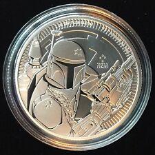 2020 NIUE STAR WARS BOBA FETT (MANDALORIAN) 1 OZ SILVER COIN w CAPSULE IN STOCK!