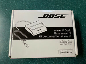 NEW Bose Wave III Apple iPod iPhone Dock 30 Pin Wave Music System 351020-0020