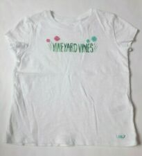 NWT Vineyard Vines Girls/' SS Pkt Tee Ikat Dot Whale White Cap 4T