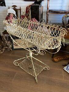 Genuine Antique Wirework Planter Great Pattena