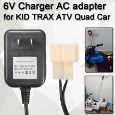 Netzladegerät Netzteil 6V Akkuleistung für Kinder Trax Atv Quad Ride Auto S99