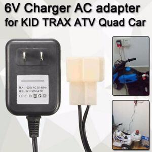 Muro Caricabatterie Adattatore AC 6V Batteria Potenza Per Bambini Trax Atv Quad