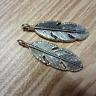 10/30/120pcs Antique silver Feather Tibetan Jewellery Pendants Charms 28x9mm