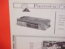 1966 CADILLAC ELDORADO CONVERTIBLE DEVILLE FLEETWOOD AM-FM RADIO SERVICE MANUAL