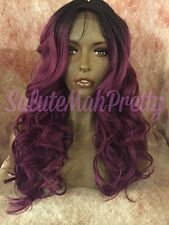 "100% Human Hair Blend 20"" Loose Curls Middle Part Lace Front Wig"