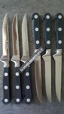 6 couteaux à steak , couteaux pointus la fourmi ,lame lisse inox 11.5 cm ,FRANCE