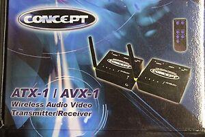 2.4GHz Wireless Audio Video Transmitter Receiver Set 4 CH W/remote 12V RV CAR W/