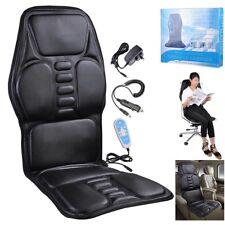 Full Body Seat Massager Pad Cushion Chair Lumbar Neck Massage Car Home Office