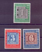 Bund 1949 - Tag der Briefmarke - MiNr. 113/115 postfr.**- Michel 100,00 € (262)