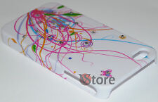 Cover Custodia Per APPLE iPhone 4/4G/4S Brillanti Stelle Filanti + Pellicola