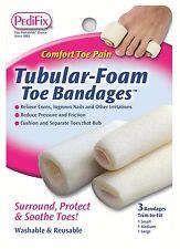 TUBULAR-FOAM TOE BANDAGES MIXED 3 PACK BY PEDIFIX 1 SMALL 1 MEDIUM 1 LARGE