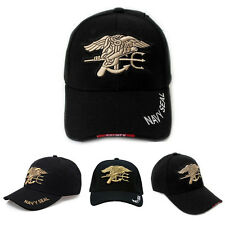 Stock Black Outdoor Military Hunting Embroidered Navy Seal Baseball Cap Sunhat