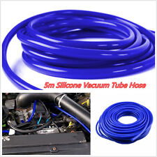 DIY Blue 5 Meter/14.5ft  Car Truck 4mm Silicone Vacuum Tube Hose Silicone Tubing