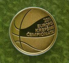 LITHUANIA 50 LITU/LITAS 2011 GOLD PROOF DEDICATED TO BASKETBALL