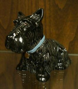 Wade Ceramics for Ficol 'Nennie' Black Scottish Terrier Ornament
