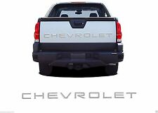 Chrome Rear Tailgate Letter Inserts For 2002-2006 Chevy Avalanche New Free Ship