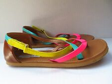 American Eagle Multi-Colored Strappy Sandals (Estimated Size 7 (Youth))
