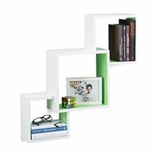 Relaxdays Étagère Cube Carré Tablette flottante murale 3 Cubes en MDF HxLxP ...