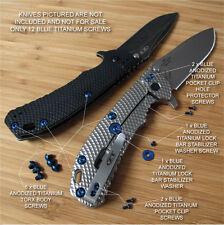 Zero Tolerance ZT0560 561 ZT Knife 13PC Titanium Screw Set inc LBS Washer BLUE