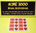 Gerry Anderson Dinky 360 Space1999 Eagle Freighter Repro Waste Drum Sticker Set