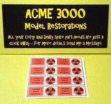 Gerry Anderson Dinky 360 Space1999 Eagle Freighter Replacement Waste Drum Decals