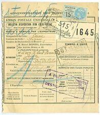 ALGERIA: Parcel to France 1923.