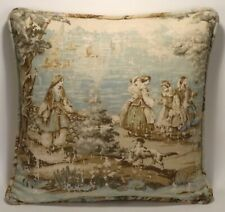"""1 18"""" French Country Toile Bosporus Flax Green Decorative Throw Pillow Cover"""
