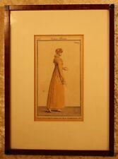 Costume Parisien 1810 Platte 1029=altcolorierter Kupferstich, gerahmt 30,5x22,5