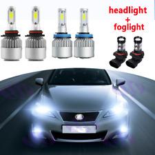 6X LED Headlight + Fog Light Lamp White Bulbs For Lexus IS250 IS350 2006-2010