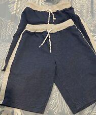 2 Pair Boys Shorts Size 10-12 Blue/Gray