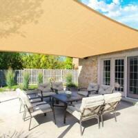 Patio Sun Shade Canopy UV Block Outdoor Cover for Backyard Garden Playground