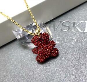 Swarovski Teddy Bear Pendant, RHS Clear Crystal MIB 5345684
