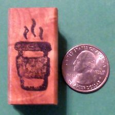 Cup  o' Hot Java Rubber Stamp, wood mounted