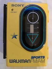 Vintage Sony Walkman Wm-F45 Sports Cassette Fm/Am Cassette Don't Working As Is