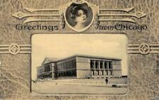 CHICAGO ART INSTITUTE Chicago, Illinois Museum 1910? Vintage Postcard